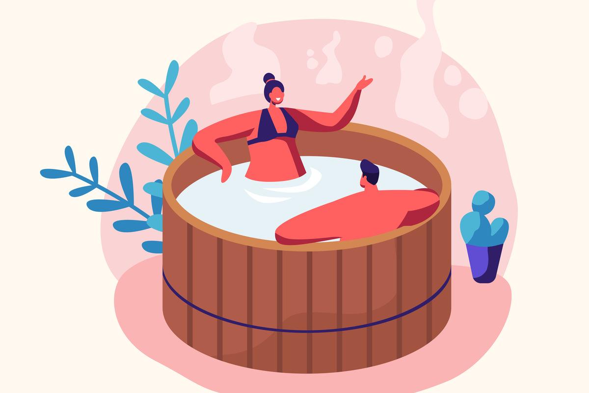 その1:温泉でまったり