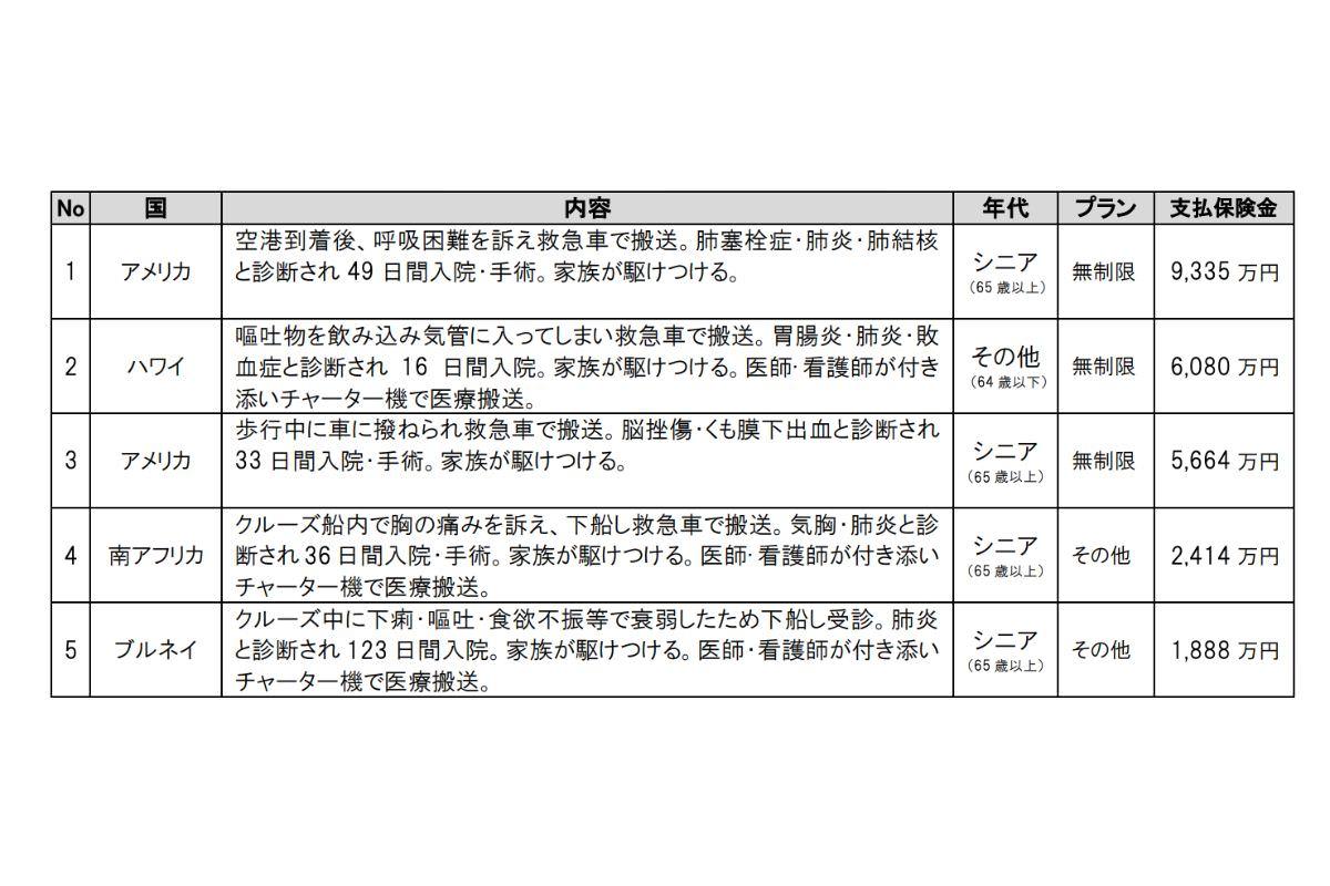 ジェイアイ傷害火災保険(株)2014 年度 海外旅行保険事故データ