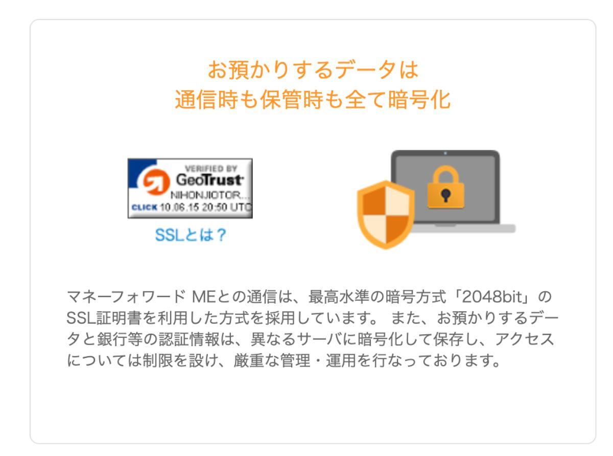 最高水準の暗号方式でデータを管理しているから